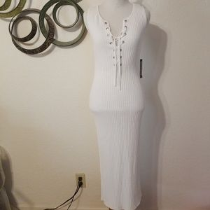 New York & Company White Ivory Bodycon Dress XS